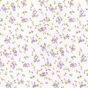 Purple floral polycotton