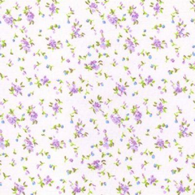 Purple floral polycotton
