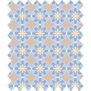Gutermann portofino mink geometric circles