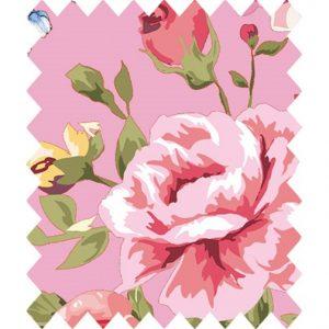 gutermann portofino pink floral