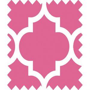 gutermann portofino pink geometric