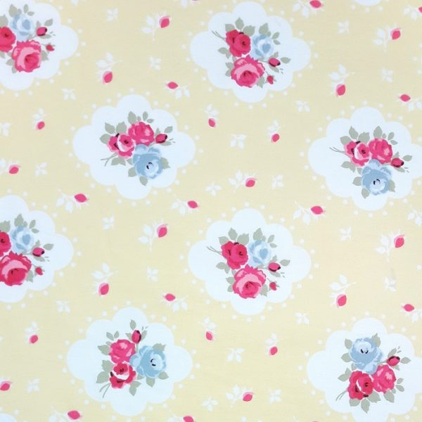 Yellow floral cotton