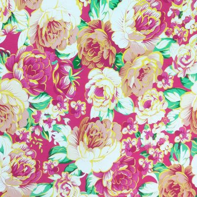 Bright floral cotton poplin