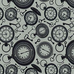 Clocks cotton fabric