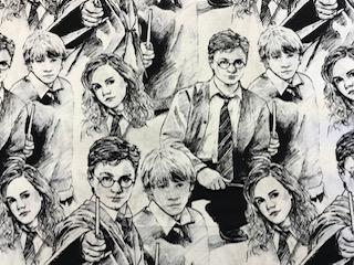 Craft Cotton Company Harry Potter Sketch Fabric