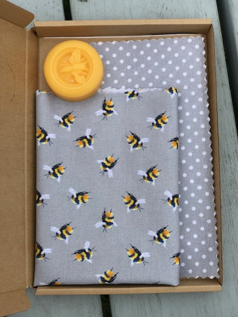 Make Your Own Beeswax Wrap Kit (Grey Colourway)