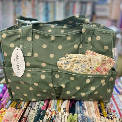 Craft Bag: Moss Polka Dot