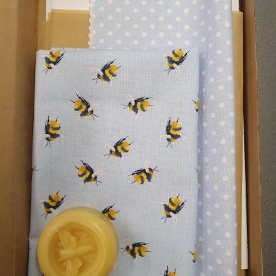 Make Your Own Beeswax Wrap Kit (Blue Colourway)