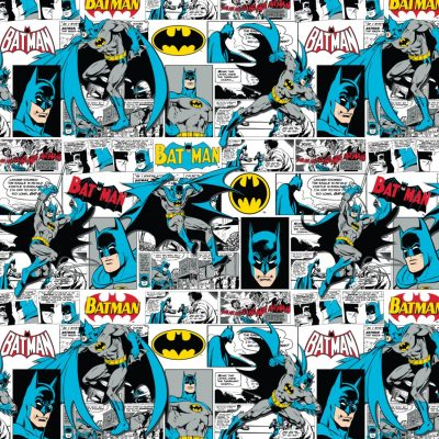 DC Batman Comic Strip 23200305 Fabric