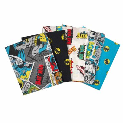 Batman Fat Quarter Bundle DC Comics for Camelot Fabrics