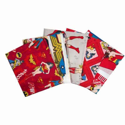 Girl Power Fat Quarter Bundle DC Comics for Camelot Fabrics