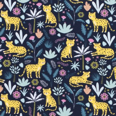 Floral Cheetah Printed Jersey