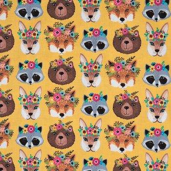 Woodland Animals With Flower Crowns Craft Cotton