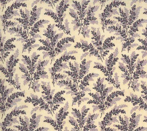 Mill Creek Garden Fabric - Ferns Ivory Purple 2242-11