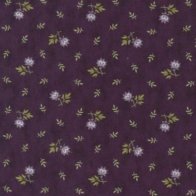 Mill Creek Garden Fabric - Purple Flowers 2244-11