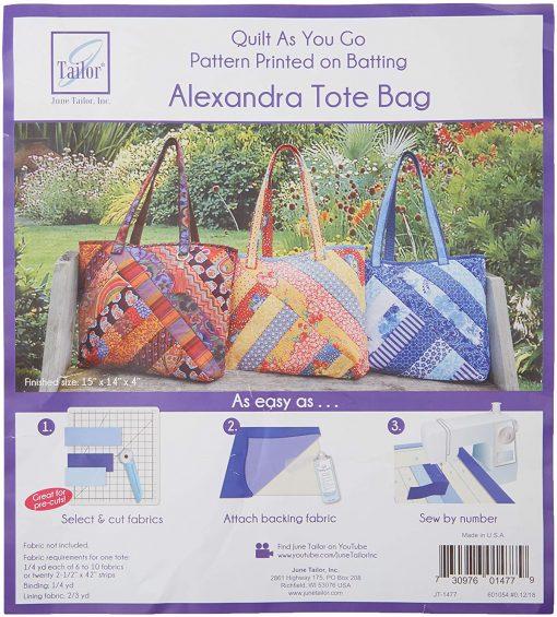 Quilt As You Go - Alexandra Tote Bag