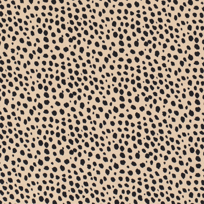 Dalmatian Printed Cotton Jersey Beige