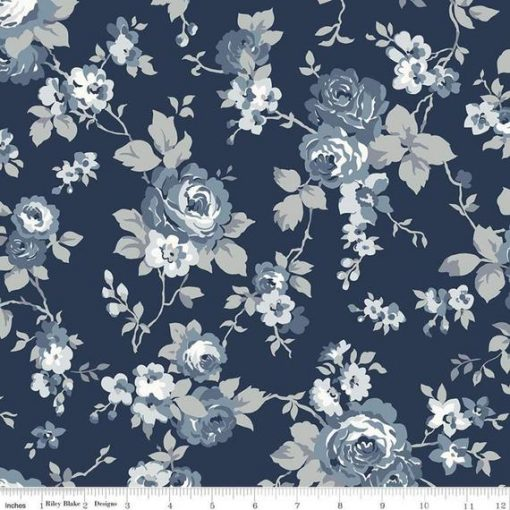 Tranquility - Main Navy C9600 by Riley Blake Designs