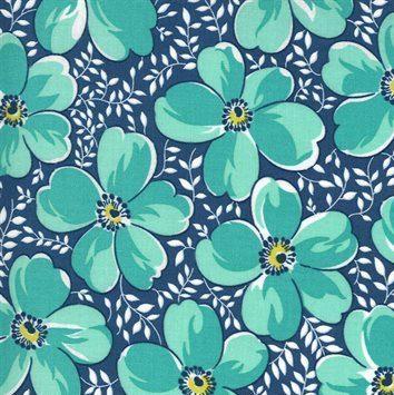 Flowers for Freya - Moda Fabrics - 23330 15 Bluebird