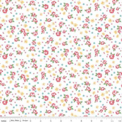 Riley Blake Designs - Notting Hill Floral White C10202-WHITE