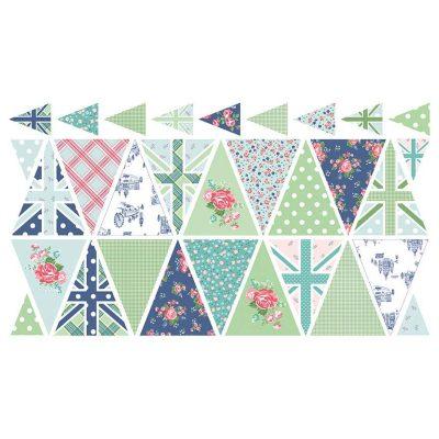 Riley Blake Designs - Notting Hill Bunting Panel P10208-BLUE