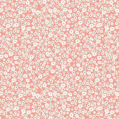 Riley Blake Designs - Gingham Gardens - Blossoms Coral
