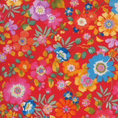 Lulu by Chez Moi - Moda Fabrics - 33581-14 Flower Garden Geranium