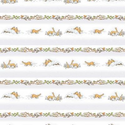 Clothworks - Guess How Much I Love You - Snowy Borders - Light Grey with Metallic Y3079-87M