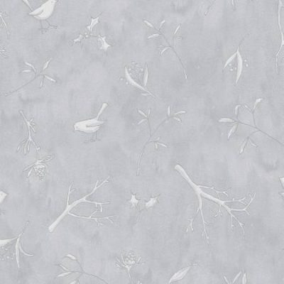 Clothworks - Guess How Much I Love You - Woodland Scatter - Soft Grey Y3083-119