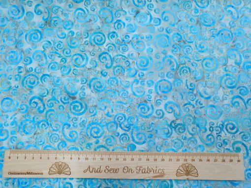 Stamped Bali Batik - Kingfisher Fabrics - SSW20-6-12 Blue
