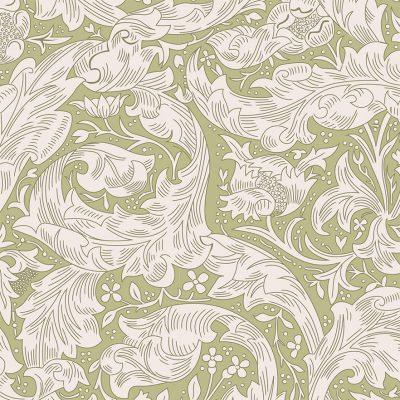 V&A William Morris Fabric - Bachelors Fern 2681-05