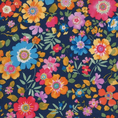 Lulu by Chez Moi - Moda Fabrics - 33581-11 Flower Garden Navy
