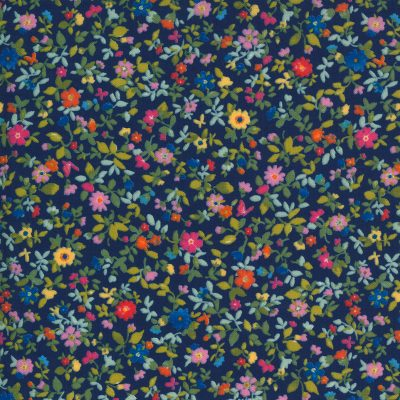 Lulu by Chez Moi - Moda Fabrics - 33584-11 Packed Floral Navy