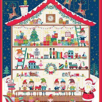 Makower – Santa's Workshop - Advent Panel 2227