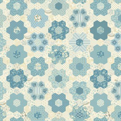 Makower - Bluebird by Edyta Sitar - 9849/B Grandmothers Garden