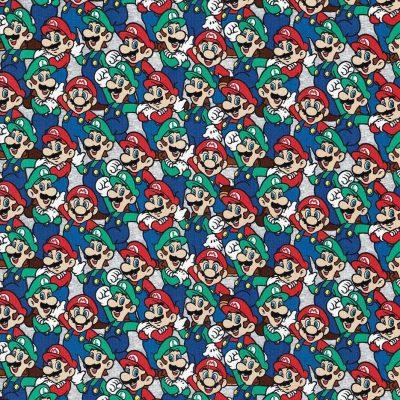 Super Mario - Mario Luigi Packed Cotton Fabric 20264