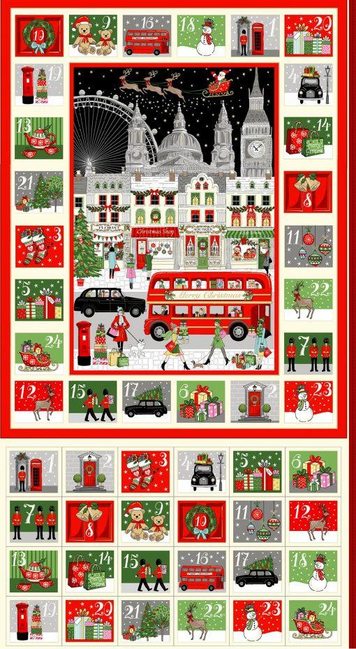 Makower – London Christmas - Advent Panel 2369