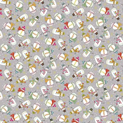 Makower - Santa Express - 2380 Snowman Grey