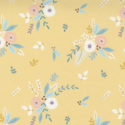 Moda - Little Ducklings by Paper + Cloth - Floral Bouquet Mustard 25101 16