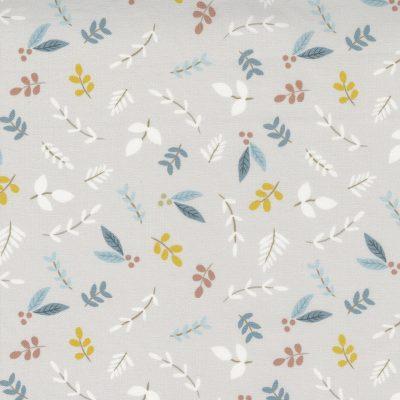 Moda - Little Ducklings by Paper + Cloth - Foliage Sprigs Warm Grey 25102-14