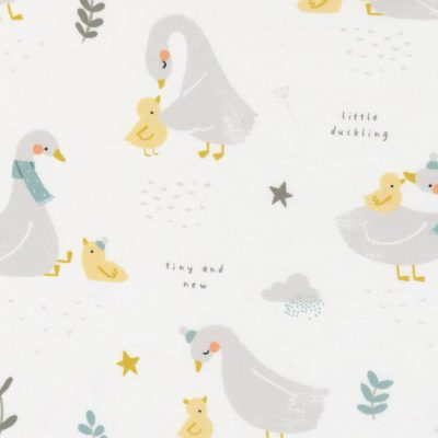 Moda - Little Ducklings by Paper + Cloth - Duck and Goose White 25100 11