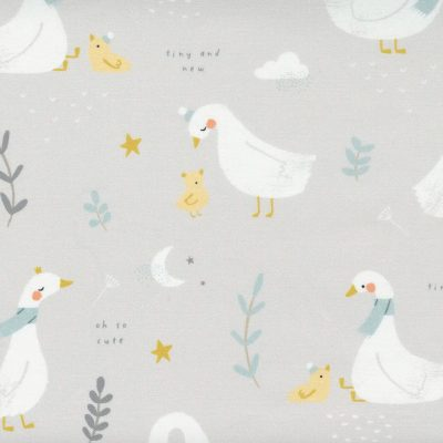 Moda - Little Ducklings by Paper + Cloth - Moon and Stars White 25105 11