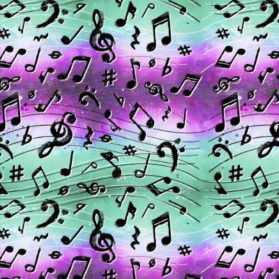 3 Wishes Fabrics - Rhythm & Hues Music Notes 18000-MLT