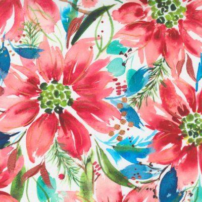 Moda Fabrics - Starflower Christmas White 8480 12