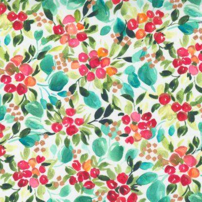 Moda Fabrics - Starflower Christmas White 8481 11