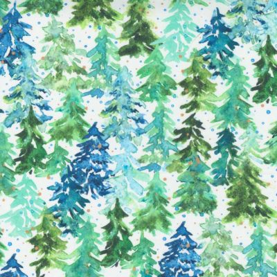 Moda Fabrics - Starflower Christmas White 8482 11
