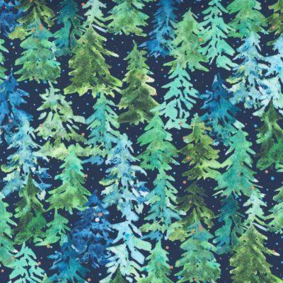 Moda Fabrics - Starflower Christmas Navy 8482 13