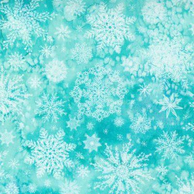 Moda Fabrics - Starflower Christmas Aqua 8483-12