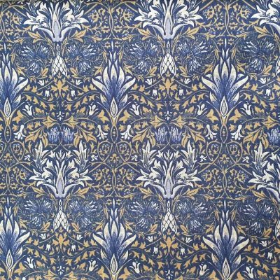 Sew Cool Blue And Gold Floral Cotton 9739-1