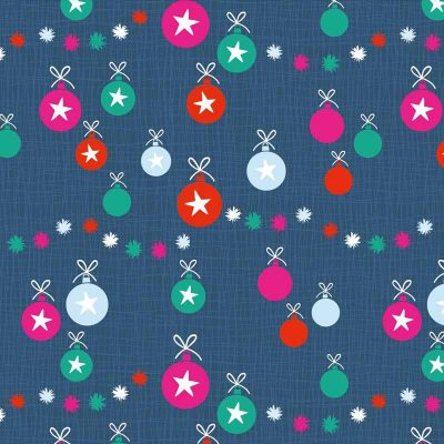 Craft Cotton Co - Colourful Christmas - Christmas Baubles 2799-04